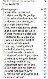 Kaliforniába jöttem Wi-Fi hálózat
