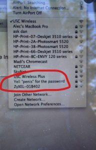 WiFi név jelszó