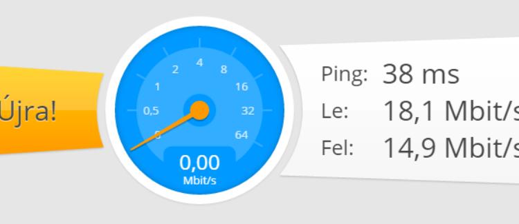 Wi-Fi sebesség mérés eredménye