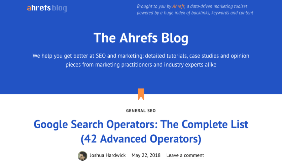 ahrefs online marketinges és seo blog