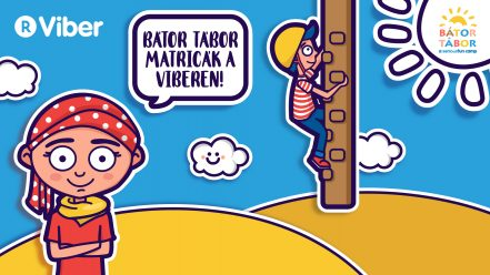 Bátor Tábor Viber matrica