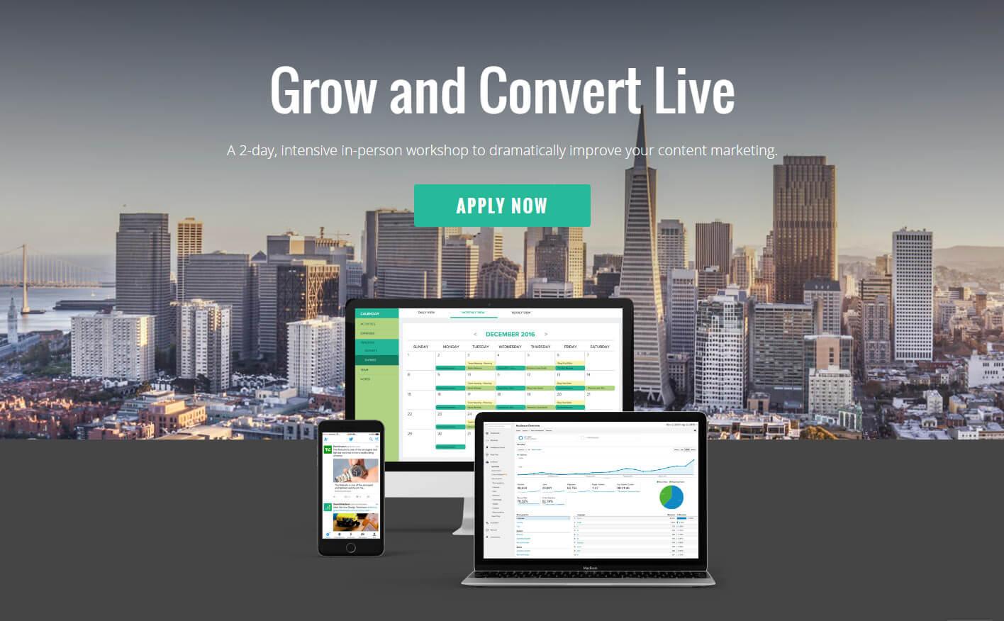 grow and convert