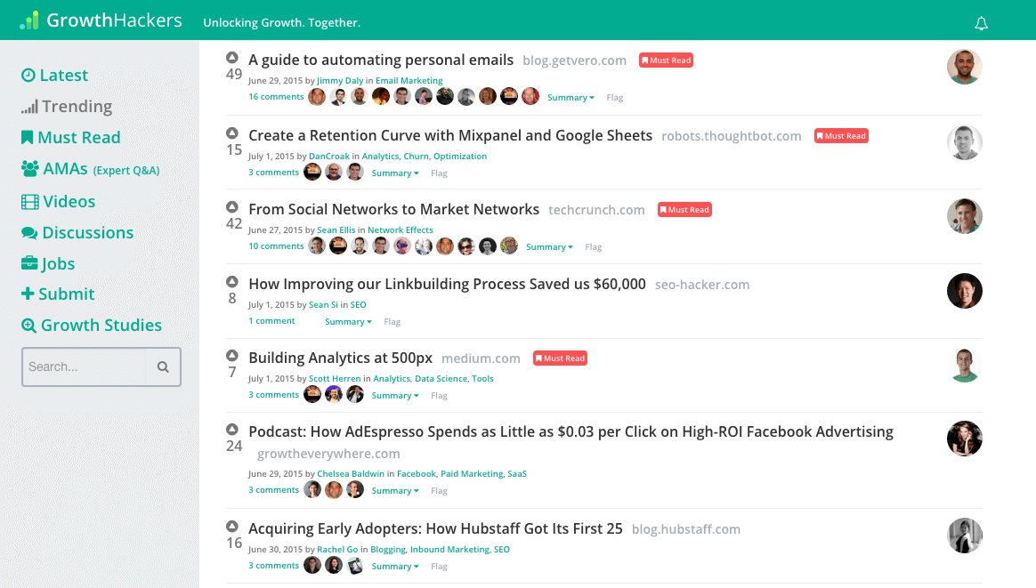 growthhackers blog