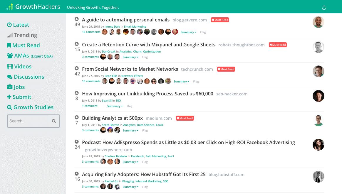 growthhackers blog