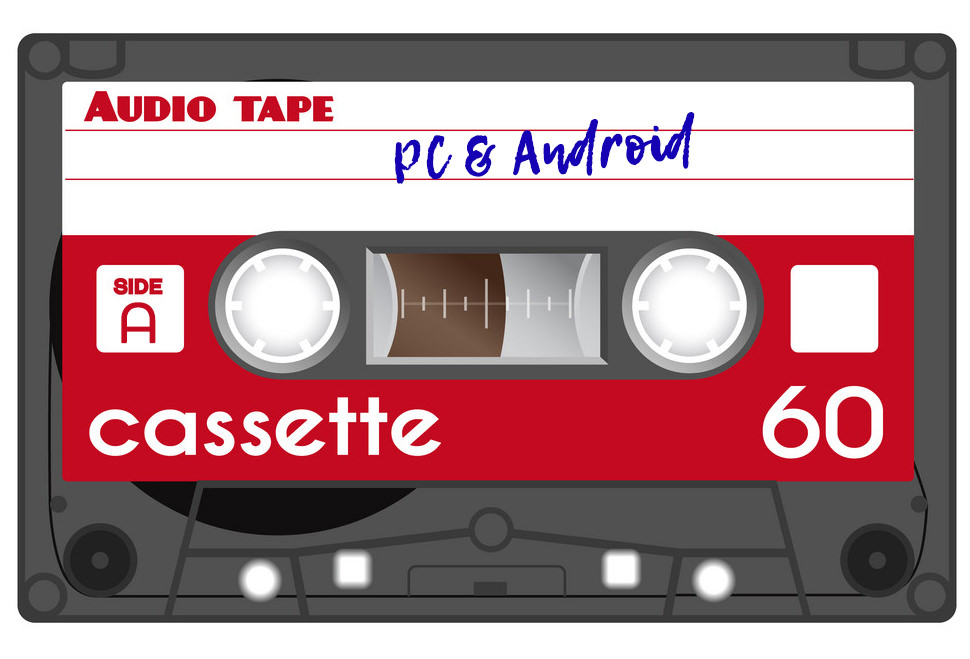 Old fashion cassette tape