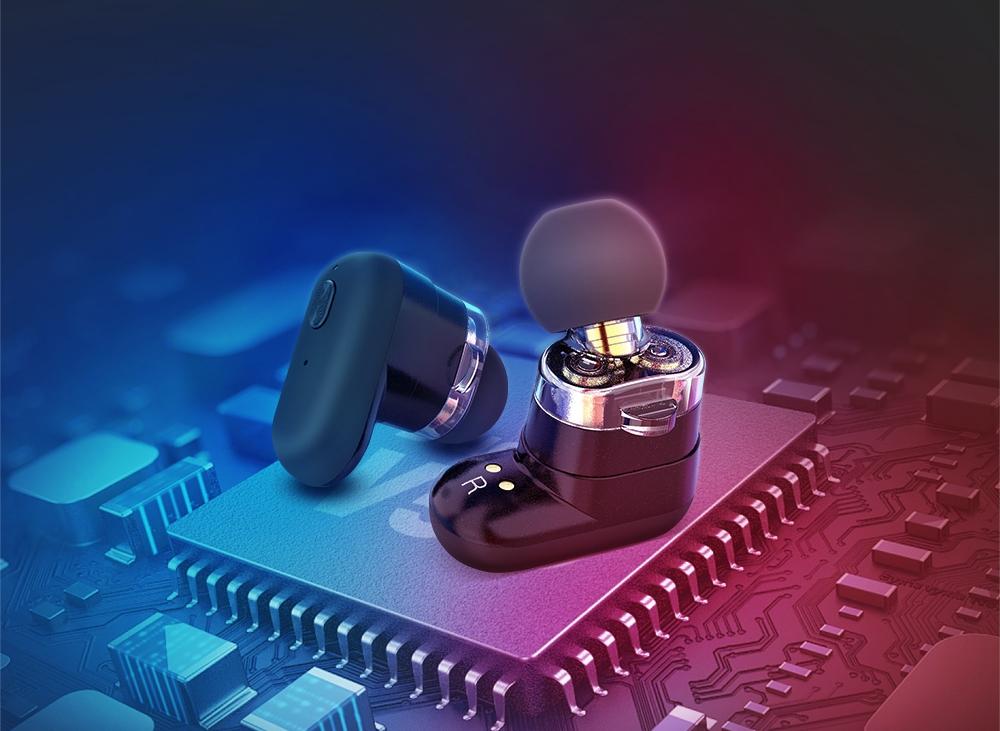Bluetooth 5.0-s vezeték nélküli fülhallgatója.
